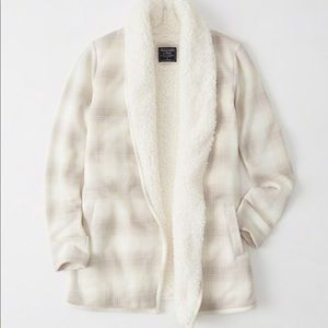 Abercrombie & Fitch Sweaters - Abercrombie & Fitch Sherpa Lined Cardigan